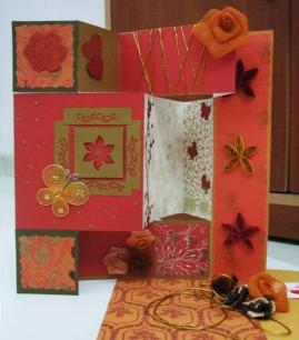 handmade trifold greeting card