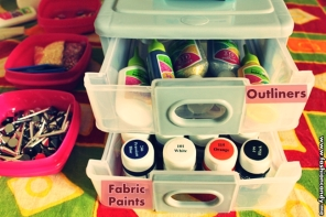 fabric paint and outliner for diy projects