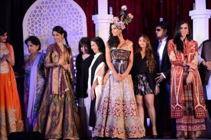 Models with Adarsh Gill, Falguni & Shane Peacock