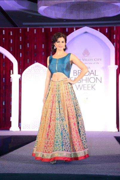 Jacqueline Fernandez, Brand Ambassador for IBFW, in Jyotsna Tiwari