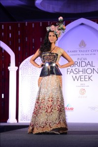 Model showcasing Falguni & Shane's collection