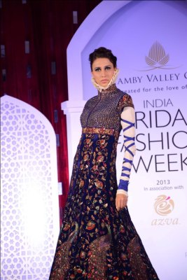 Model showcasing Rohit Bal's collection