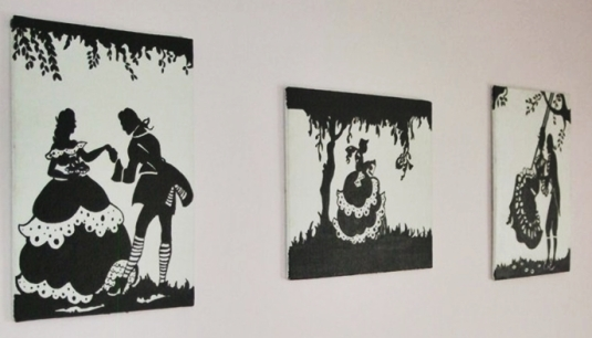 vintage silhouette paintings